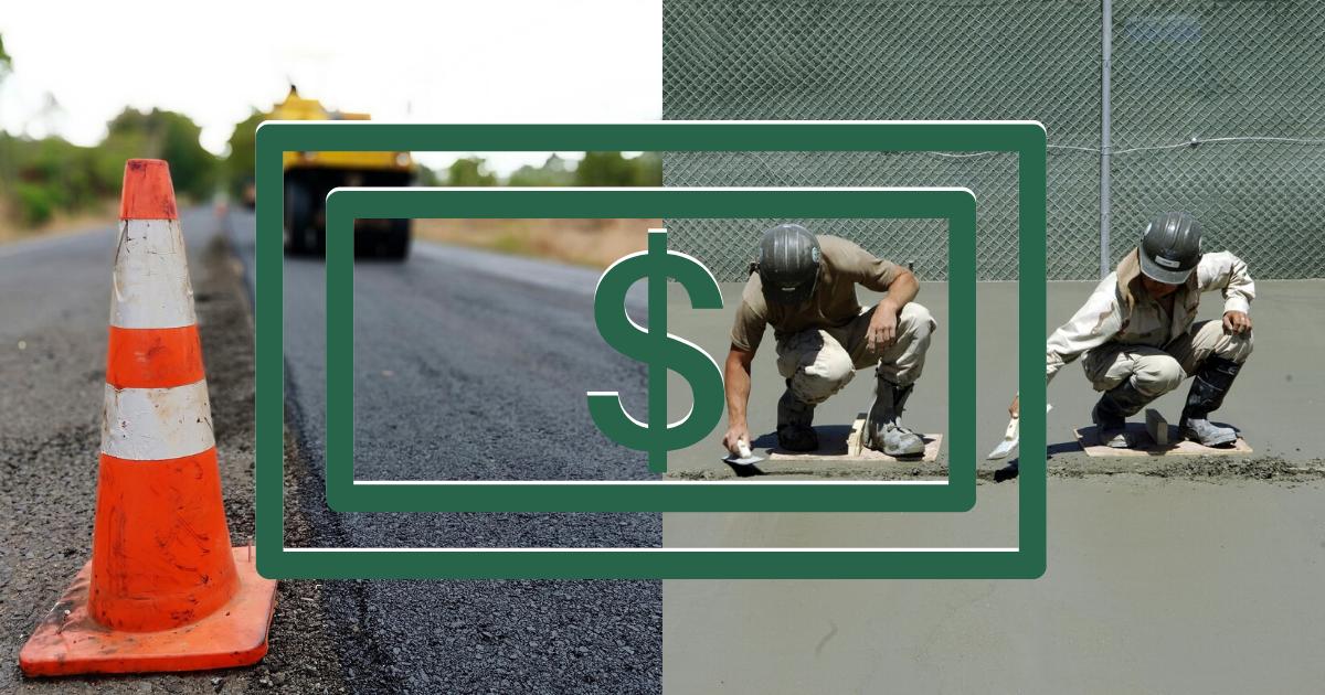 concrete vs asphalt cost